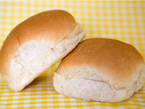 White Sliced Baps